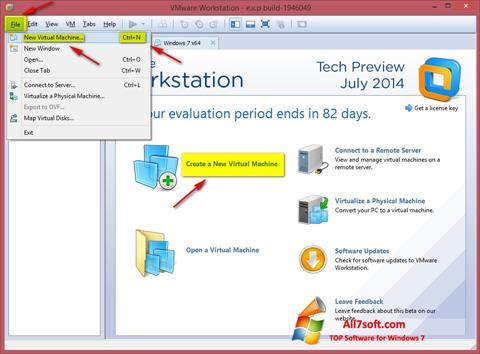 स्क्रीनशॉट VMware Workstation Windows 7