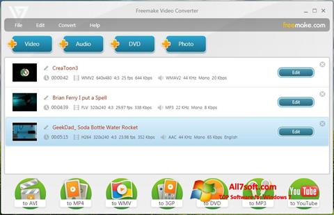 स्क्रीनशॉट Freemake Video Converter Windows 7