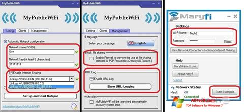 स्क्रीनशॉट MaryFi Windows 7