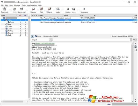 स्क्रीनशॉट Claws Mail Windows 7