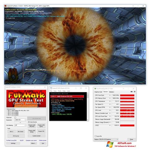 स्क्रीनशॉट FurMark Windows 7