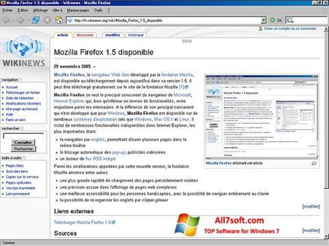 स्क्रीनशॉट Mozilla Firefox Windows 7