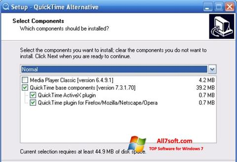 स्क्रीनशॉट QuickTime Alternative Windows 7
