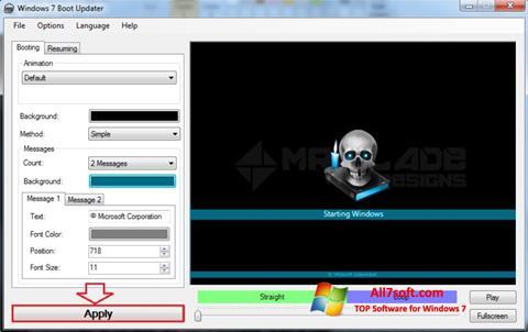 स्क्रीनशॉट Windows 7 Boot Updater Windows 7