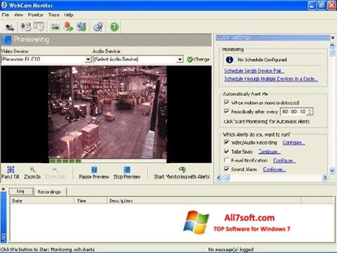 स्क्रीनशॉट WebCam Monitor Windows 7