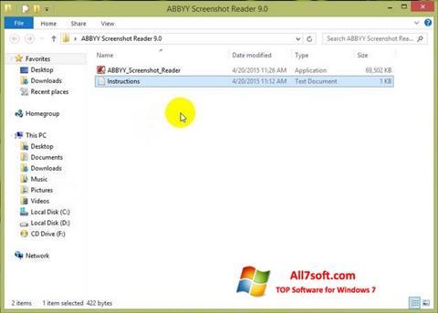 स्क्रीनशॉट ABBYY Screenshot Reader Windows 7