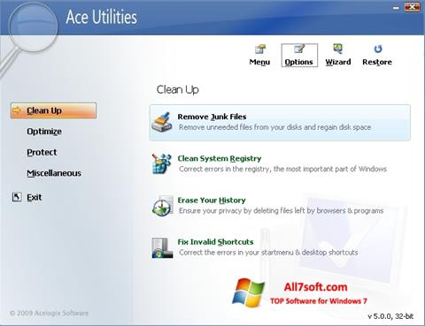 स्क्रीनशॉट Ace Utilities Windows 7