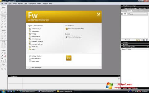 स्क्रीनशॉट Adobe Fireworks Windows 7
