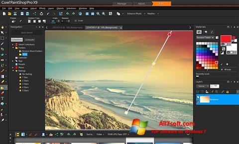 स्क्रीनशॉट PaintShop Pro Windows 7