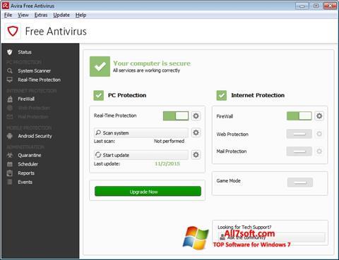 स्क्रीनशॉट Avira Free Antivirus Windows 7