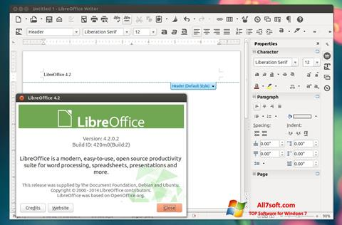स्क्रीनशॉट LibreOffice Windows 7