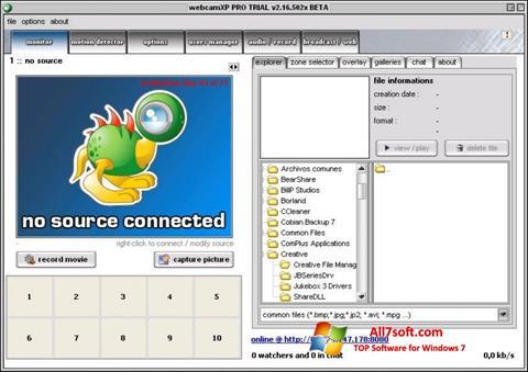 स्क्रीनशॉट webcamXP Windows 7
