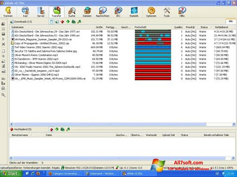 स्क्रीनशॉट eMule Windows 7