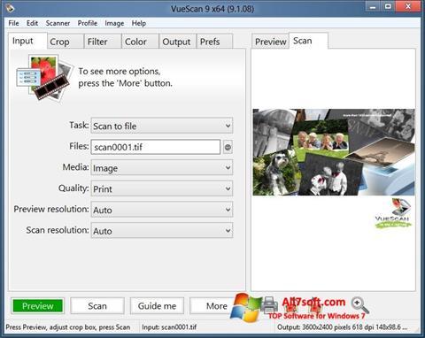 स्क्रीनशॉट VueScan Windows 7