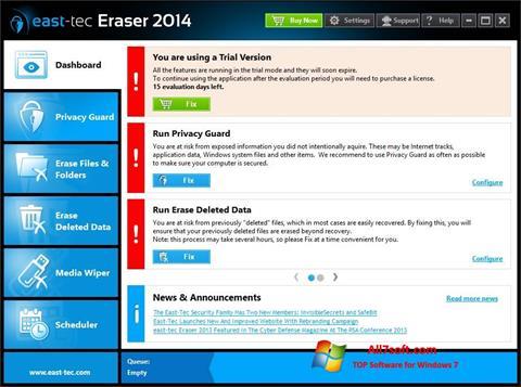 स्क्रीनशॉट East Tec Eraser Windows 7