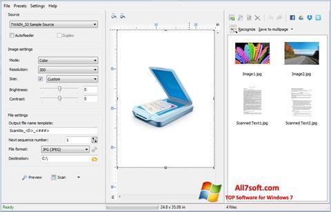 स्क्रीनशॉट WinScan2PDF Windows 7