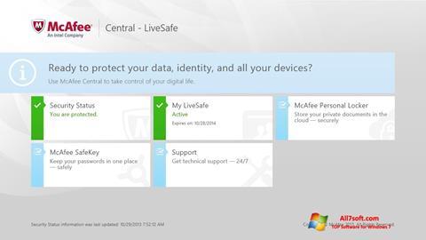 स्क्रीनशॉट McAfee LiveSafe Windows 7