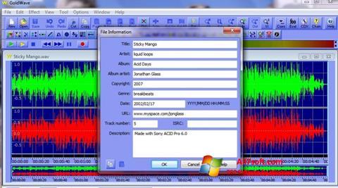 स्क्रीनशॉट GoldWave Windows 7