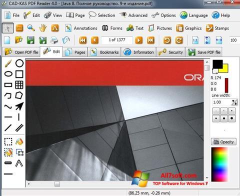 स्क्रीनशॉट PDF Reader Windows 7