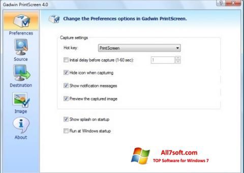 स्क्रीनशॉट Gadwin PrintScreen Windows 7