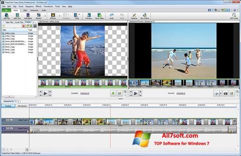 स्क्रीनशॉट VideoPad Video Editor Windows 7