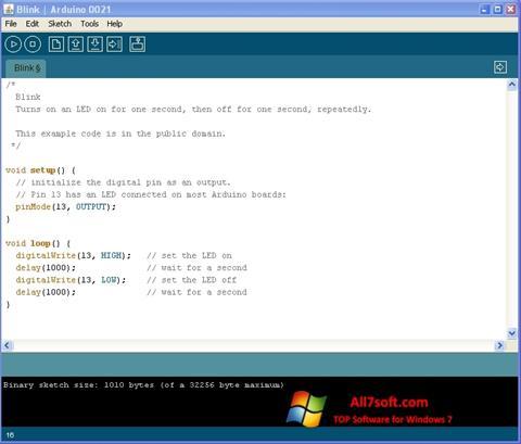 स्क्रीनशॉट Arduino Windows 7