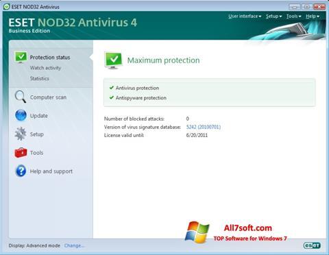 स्क्रीनशॉट ESET NOD32 Windows 7