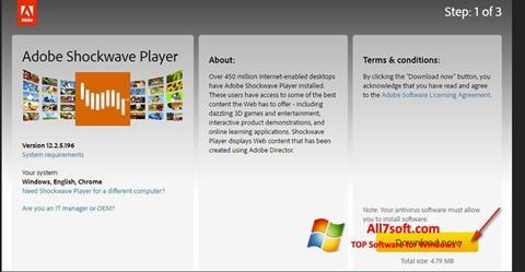 स्क्रीनशॉट Adobe Shockwave Player Windows 7
