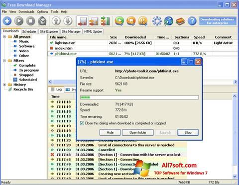 स्क्रीनशॉट Download Master Windows 7