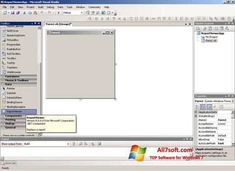 स्क्रीनशॉट Microsoft Visual Studio Express Windows 7