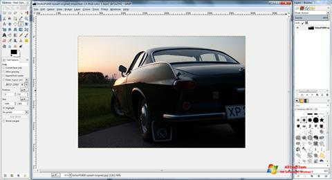 स्क्रीनशॉट GIMP Windows 7