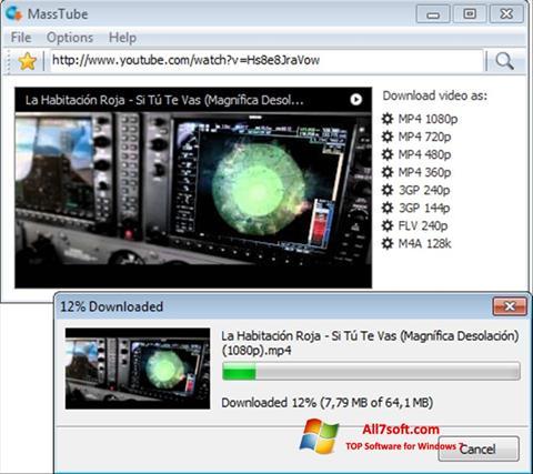 स्क्रीनशॉट MassTube Windows 7