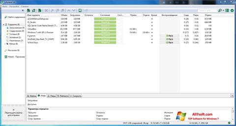 स्क्रीनशॉट uTorrent Windows 7