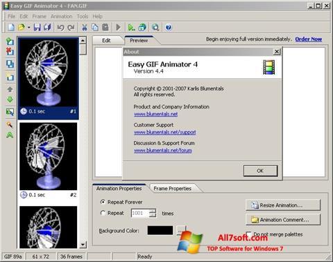 स्क्रीनशॉट Easy GIF Animator Windows 7