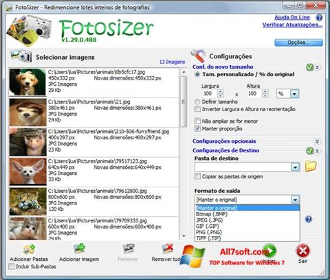 स्क्रीनशॉट Fotosizer Windows 7