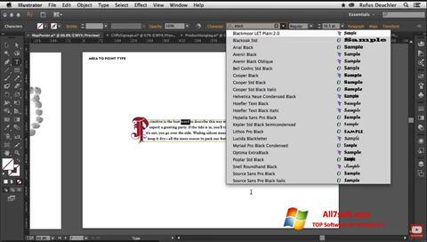 स्क्रीनशॉट Adobe Illustrator Windows 7