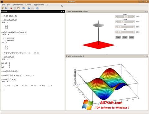 स्क्रीनशॉट Scilab Windows 7