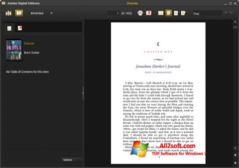 स्क्रीनशॉट Adobe Digital Editions Windows 7