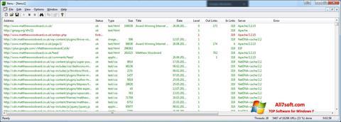 स्क्रीनशॉट Xenu Windows 7