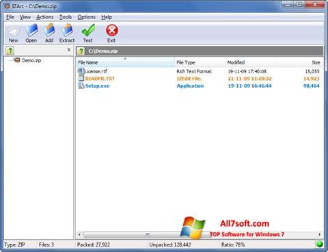 स्क्रीनशॉट IZArc Windows 7