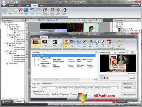 स्क्रीनशॉट Free Video Editor Windows 7