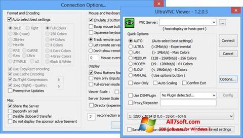 स्क्रीनशॉट UltraVNC Windows 7