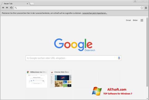 स्क्रीनशॉट Google Chrome Windows 7