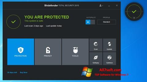स्क्रीनशॉट Bitdefender Windows 7