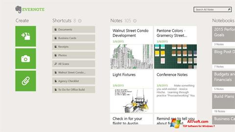 स्क्रीनशॉट Evernote Windows 7