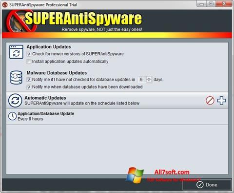 स्क्रीनशॉट SUPERAntiSpyware Windows 7