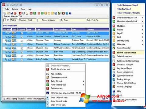 स्क्रीनशॉट Auto ShutDown Windows 7