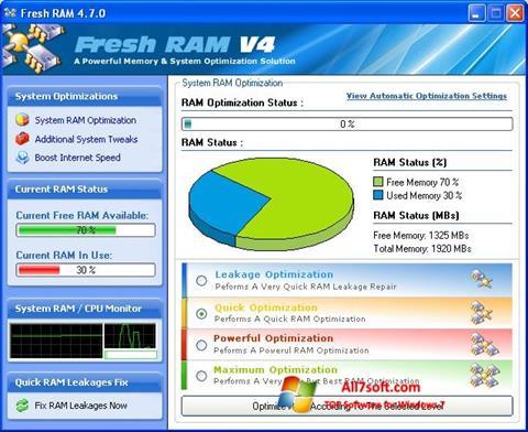 स्क्रीनशॉट Fresh RAM Windows 7