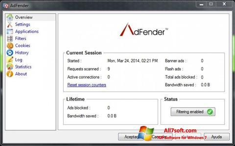 स्क्रीनशॉट AdFender Windows 7