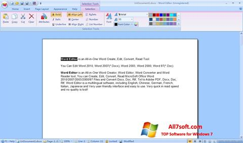स्क्रीनशॉट DocX Reader Windows 7